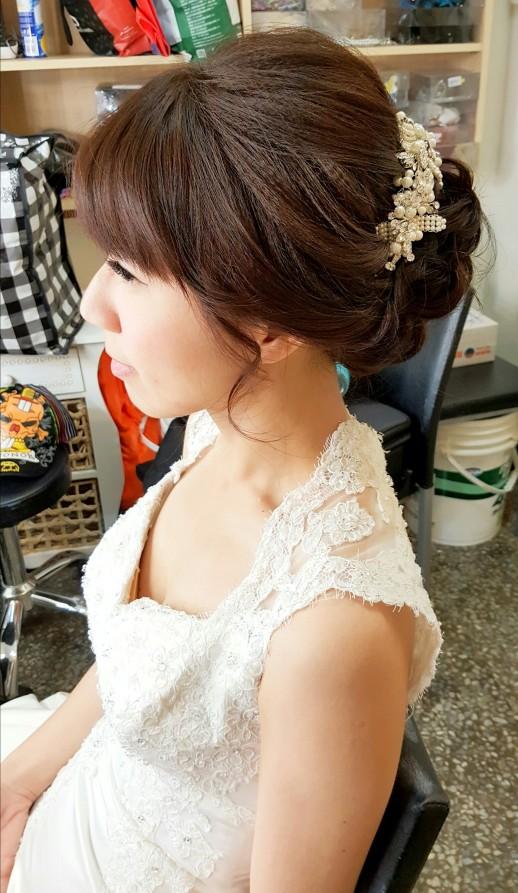 編髮造型變化-台南新秘Penny