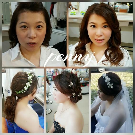 新秘造型妝髪作品-台南造型師Penny
