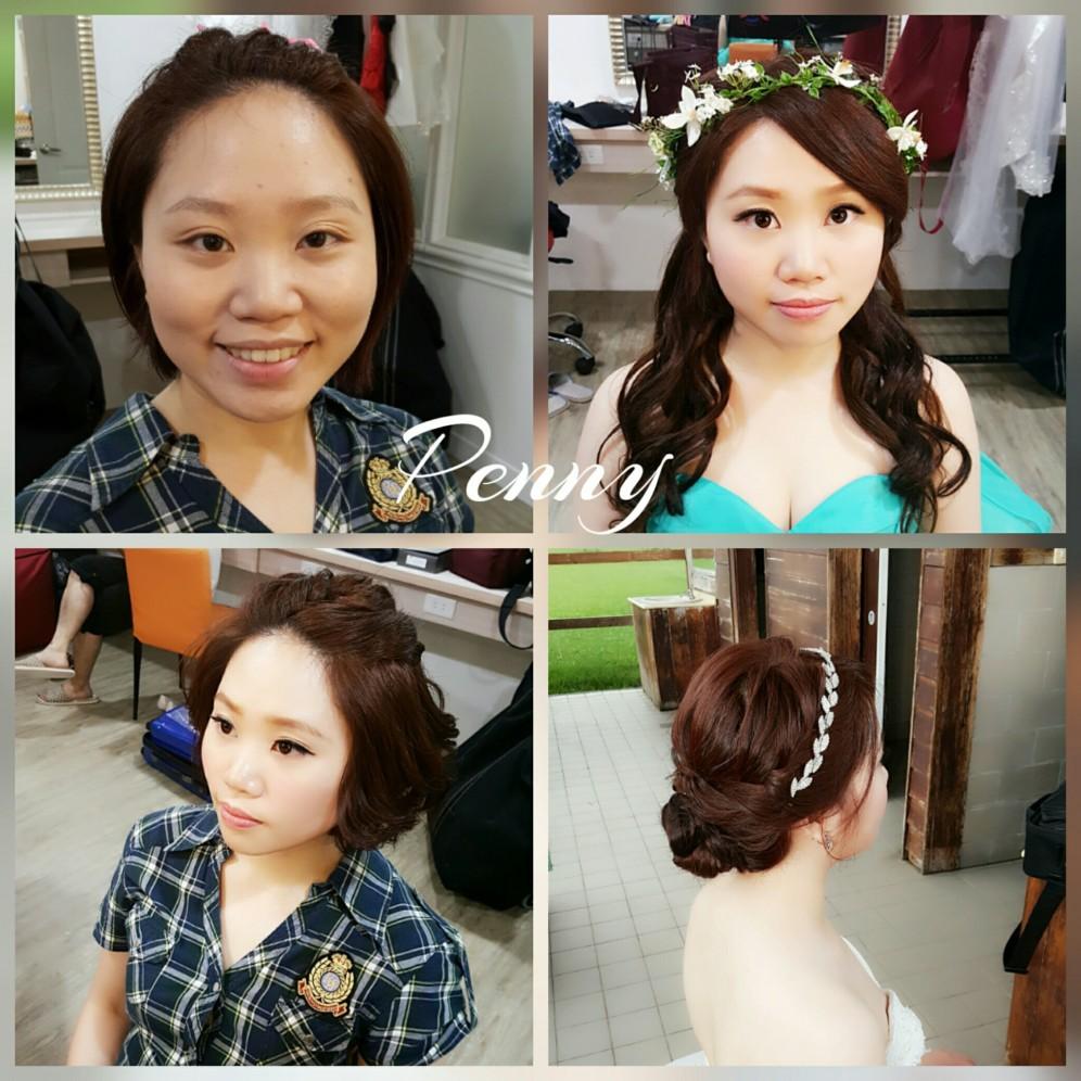 妝髪造型作品-台南新秘Penny